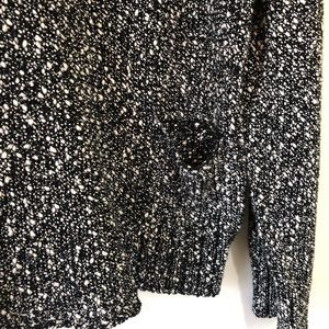 Eileen Fisher Sweaters - Eileen Fisher boxy black and white v-neck sweater
